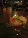 Chocolate Milkshake + Es Buah (Warung Little Bird, Sanur)